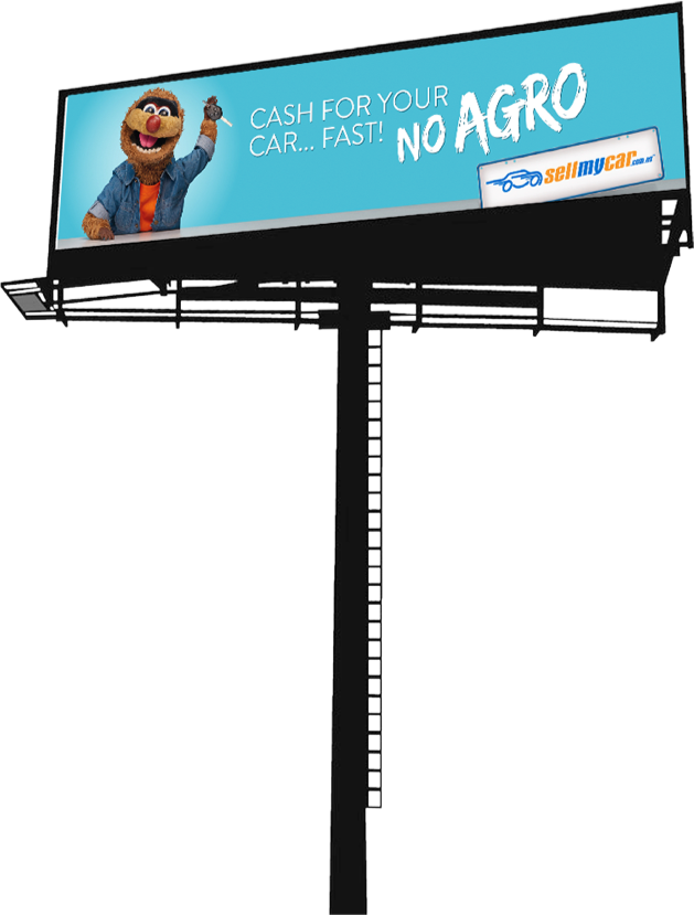 Agro on a Billboard for Sell My Car