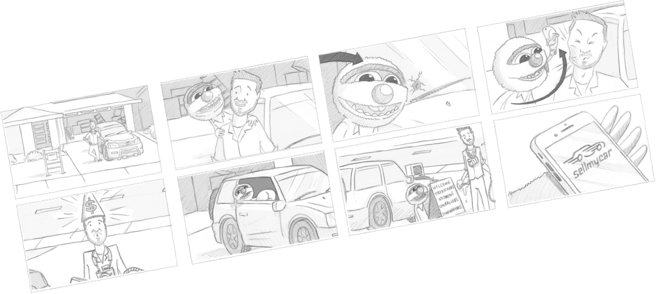 Storyboard for Agro for Sell My Car