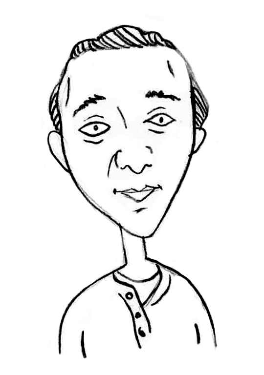 Sketched Caricature of Adam Vecchi