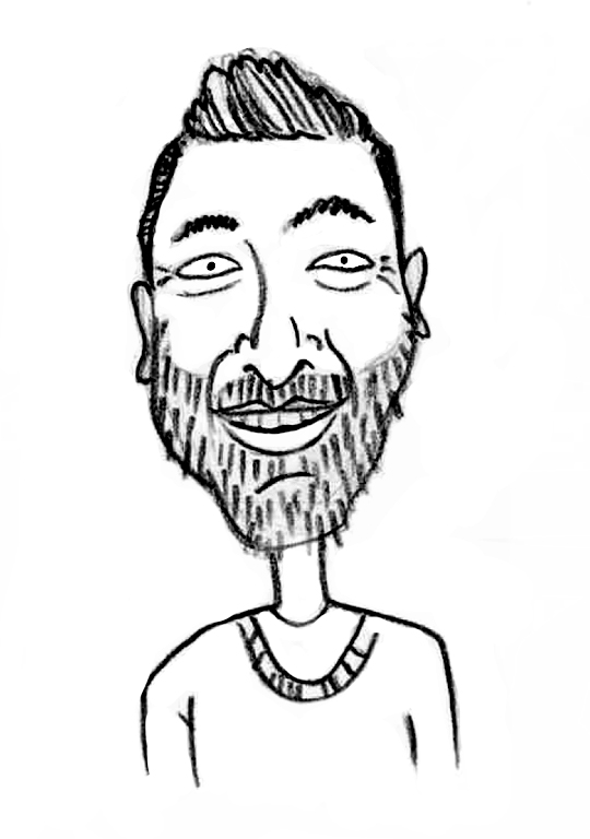 Sketched Caricature of Alexander Andrews