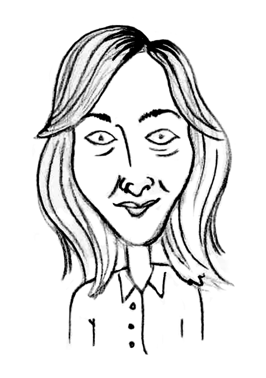Sketched Caricature of Caroline Gilroy