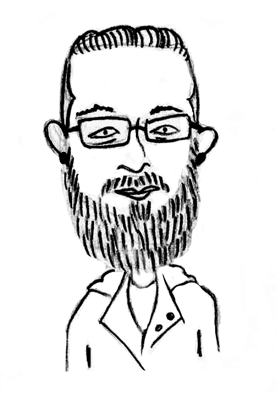 Sketched Caricature of Christos Hrousis