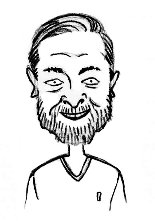Sketched Caricature of Dan Penny