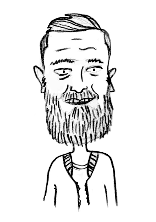 Sketched Caricature of Dave Ridley