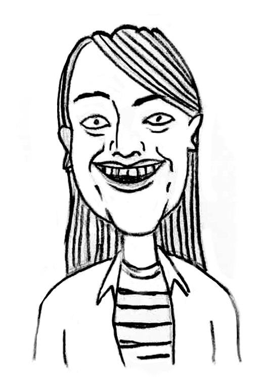 Sketched Caricature of Jess Grierson