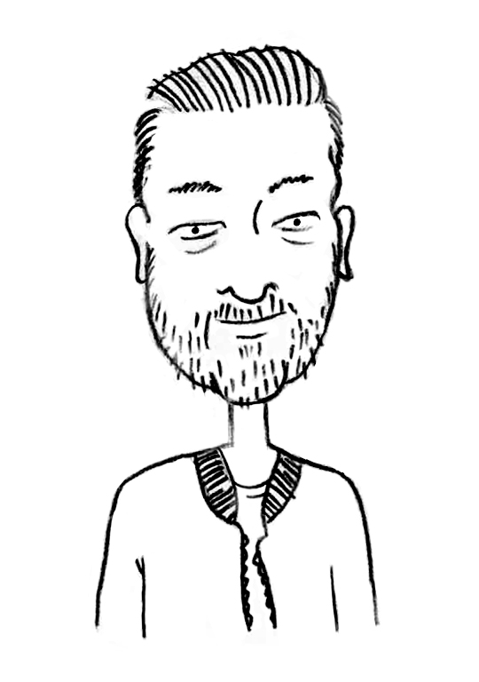 Sketched Caricature of Lyndon Otten