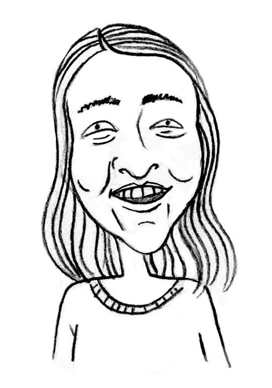 Sketched Caricature of Maree Piacente