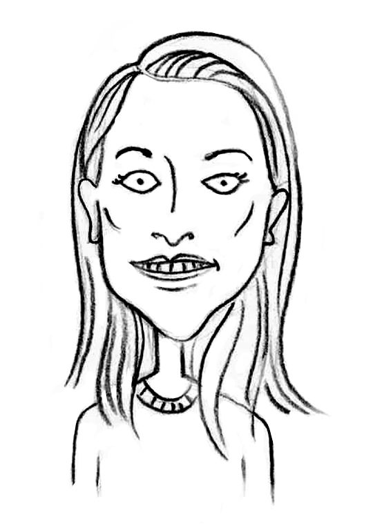 Sketched Caricature of Maddy Tolley
