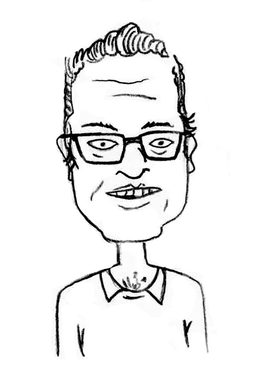 Sketched Caricature of Paul Whitworth