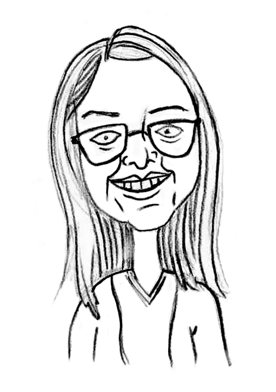 Sketched Caricature of Phoebe Baker