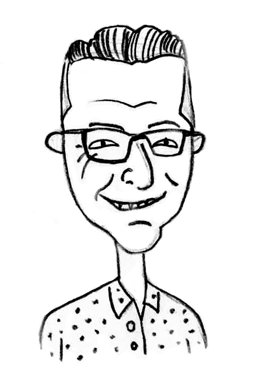 Sketched Caricature of Steve Moulton