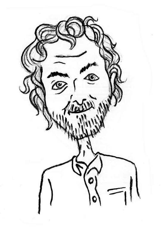 Sketched Caricature of James Gaffey