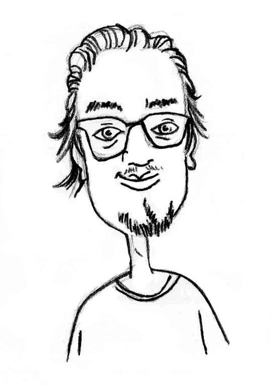 Sketched Caricature of Remy Clarke
