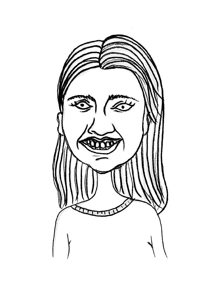 Sketched Caricature of Dani  George