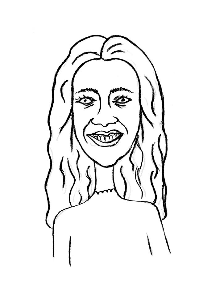 Sketched Caricature of Sanda Mitrovic