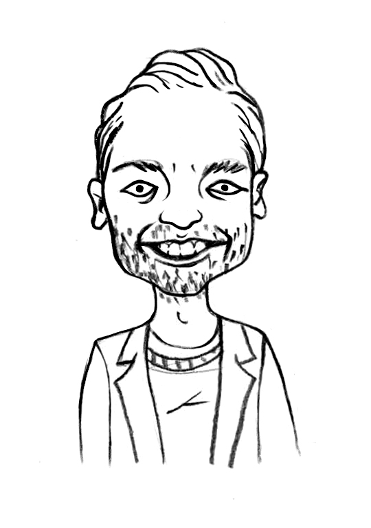 Sketched Caricature of David Dalgarno