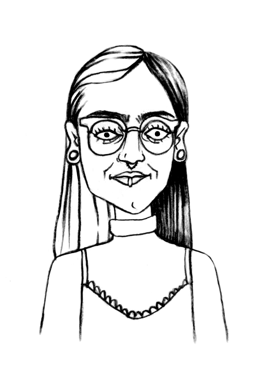 Sketched Caricature of Izy Kali
