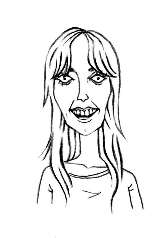 Sketched Caricature of Sarah Dodds