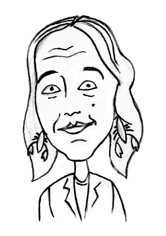 Sketched Caricature of Trudy Booker
