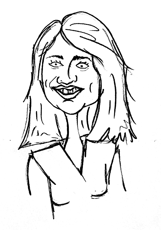 Sketched Caricature of Catherine Duncan