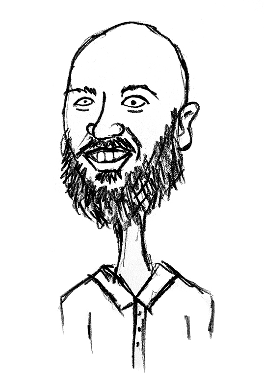 Sketched Caricature of Dan Crowley